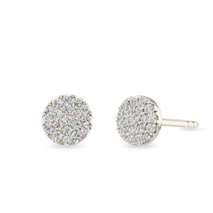Balto aukso auskarai su deimantais | Taurus Jewels