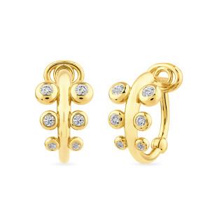 Geltono aukso auskarai su deimantais | Taurus Jewels