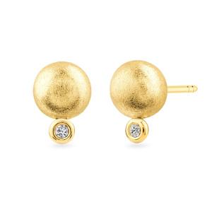 Geltono aukso auskarai su deimantais | Tauras Jewels