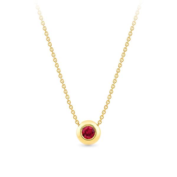 Geltono aukso pakabukas su rubinu | Taurus Jewels