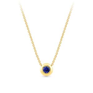 Geltono aukso pakabukas su mėlynu safyru | Taurus Jewels