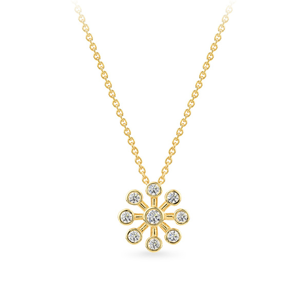 Geltono aukso pakabukas su deimantais   Taurus Jewels