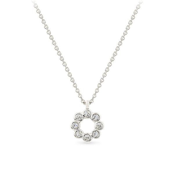Balto aukso pakabukas su deimantais | Taurus Jewels