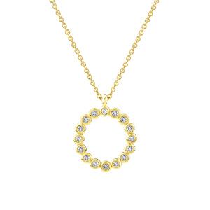 Geltono aukso pakabukas su šampaniniais deimantais | Taurus Jewels
