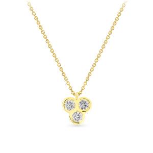 Geltono aukso pakabukas su deimantais | Taurus Jewels