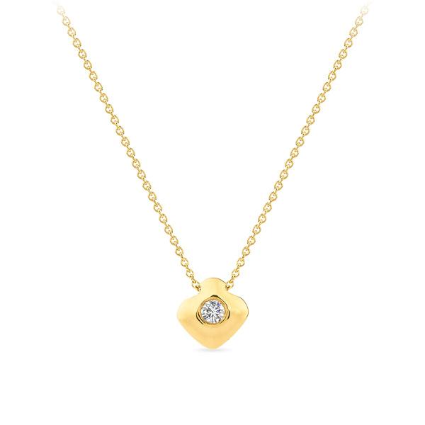 Geltono aukso pakabukas su deimantu   Taurus Jewels
