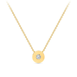 Geltono aukso pakabukas su deimantu geltoname aukse | Taurus Jewels