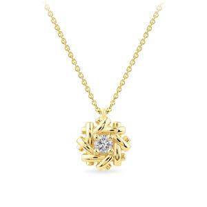 Geltono aukso pakabukas su deimantu | Taurus Jewels