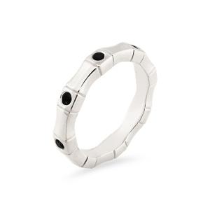 Vestuvinis balto aukso žiedas su juodais deimantais | Taurus Jewels