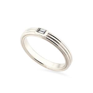 Vestuvinis balto aukso žiedas su deimantu | Taurus Jewels
