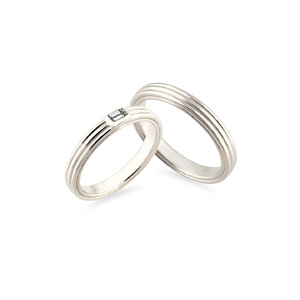 Vestuvinis balto aukso žiedas | Taurus Jewels