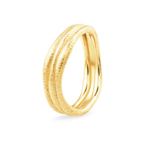 Curved Wedding Ring in Yellow Gold | Taurus Jewels