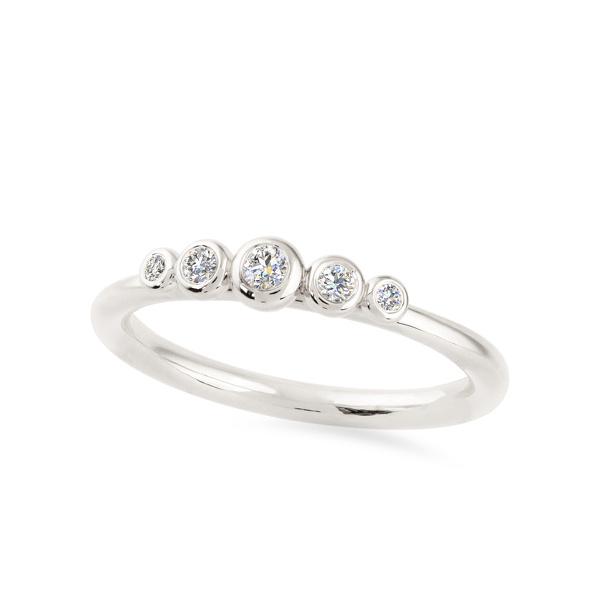 Balto aukso žiedas su deimantais   Taurus Jewels