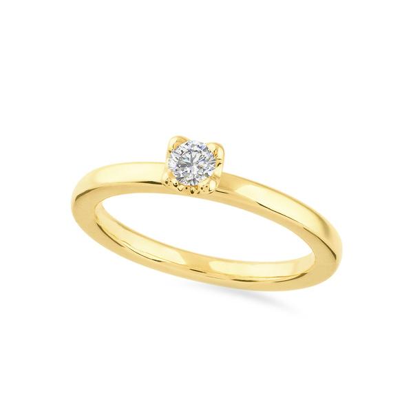 Geltono aukso žiedas su deimantu | Taurus Jewels