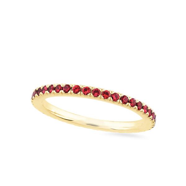 Geltono aukso Amžinybės žiedas su rubinais | Taurus Jewels