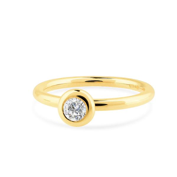 Geltono aukso žiedas su deimantu   Taurus Jewels