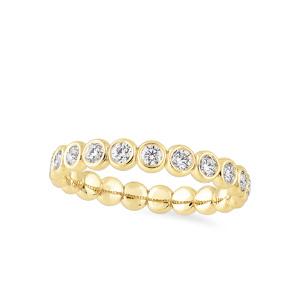 Geltono aukso amžinybės žiedas su deimantais | Taurus Jewels