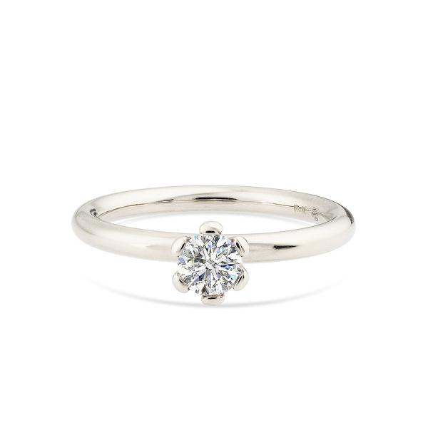 Balto aukso žiedas su deimantu   Taurus Jewels