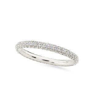 Balto aukso Amžinybės žiedas su deimantais | Taurus Jewels