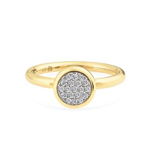 Geltono aukso žiedas su deimantais |Taurus Jewels